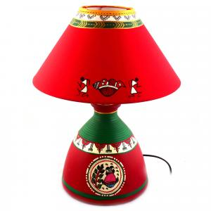 CLAY LAMP BASE-RED