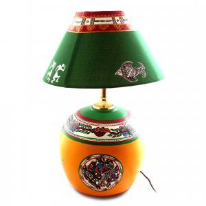 CLAY LAMP BASE-YELLOW