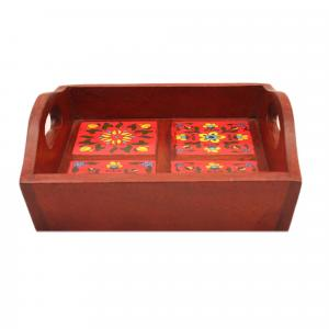 TILE PAINTED TRAY