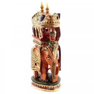 WOODEN AMBARI ELEPHANT PAINTING