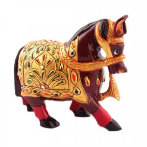 WOODEN HORSE PAINTED