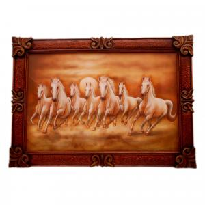 HAND PAINTED HORSE WALL HANGING PANEL