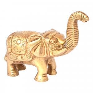 BRASS ELEPHANT TRUNK UP