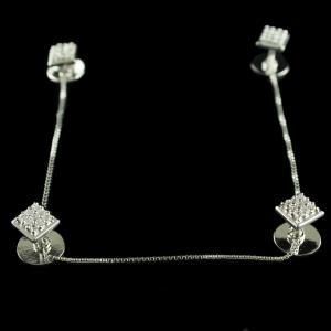 Silver Cufflinks Studded Zircon Stones