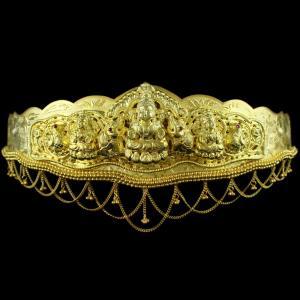 Antique Design Gold Plated Oddiyanam