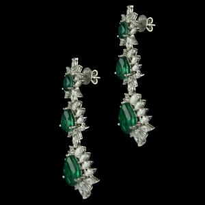 92.5 Sterling Silver Swarovski Stone Earrings