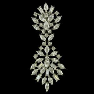 92.5 Sterling Silver Fancy Earrings Studded sworvski Zircon Ston