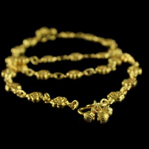 Gold Plated Floral Design Anklets