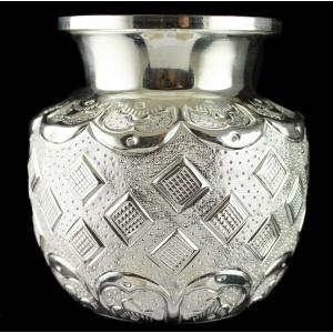 Engraving Silver Kalash