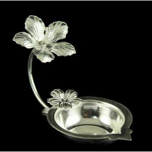 Silver Floral Design  Lamp