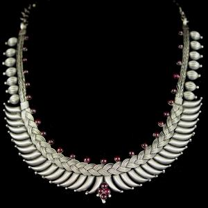 Silver Oxidized Fancy Design Necklace