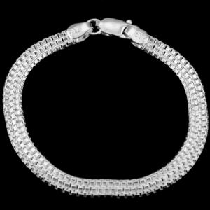 Silver Fancy Design Bracelet