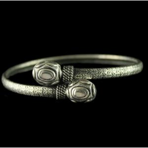 Silver Oxidized Fancy Design Bracelet