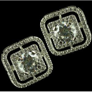 92.5 Sterling Silver Swarovski Zircon Earrings