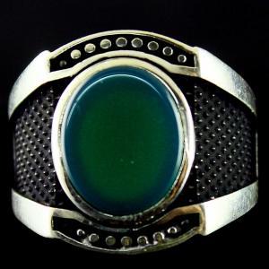 Silver Oxidized Fancy Ring Studded Zircon Stones