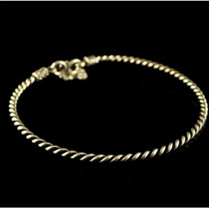Silver Oxidized Anklets Design  Band