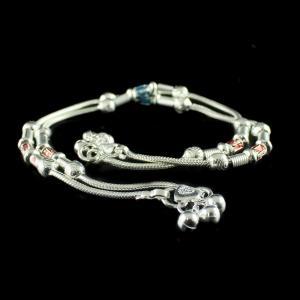 Silver Fancy Design Anklets