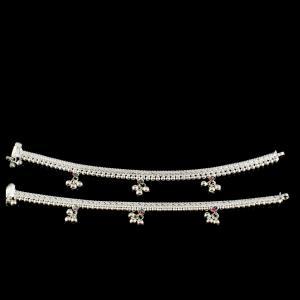 Silver Fancy Design Anklet