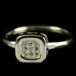 R13235 Sterling Silver Fancy Ring Studded Zircon Stones