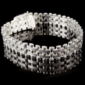 Silver Floral Design Bracelets
