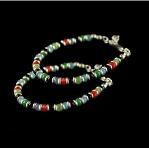 92.5 Silver Bracelet Studded Semi Precious Stones