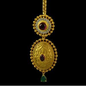Silver Gold Plated Kundhan Design Tikka