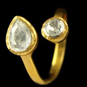Gold Plated Floral Design Divine Ring