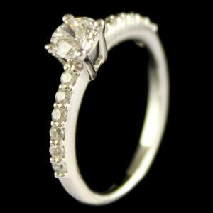 R13213 Sterling Silver Fancy Ring Studded Zircon Stones