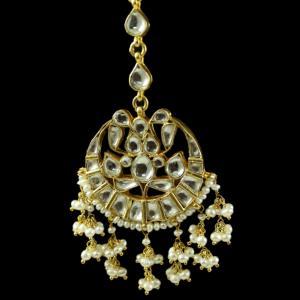 Silver Gold Plated Kuddan Stone Nethi Chutti or Tikka Pearl 2.5m