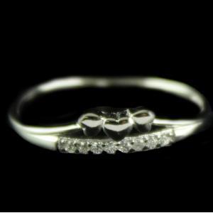 R13239 Sterling Silver Fancy Ring Studded Zircon Stone