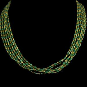 Silver Gold Plated Pounch Chain With Green Beads