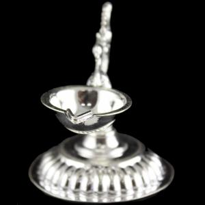 Silver Peacock Design Lamp
