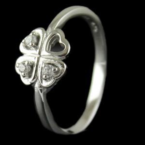 R13289 Sterling Silver Fancy Ring Studded Zircon Stones
