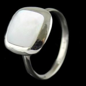 Silver Rainbow Moon Stone Ring