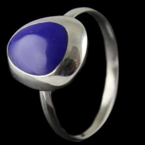 Silver Blue stone Ring