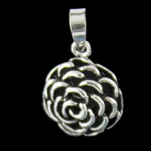 Silver Oxidize Flower Design Pendants