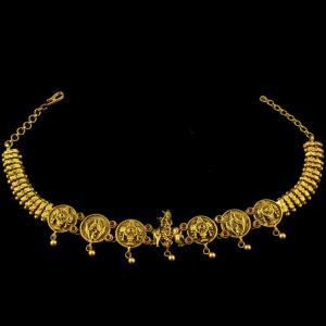 Gold Plated Antique Design Oddiyanam