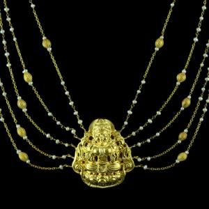 Gold Plated Pearls Necklace
