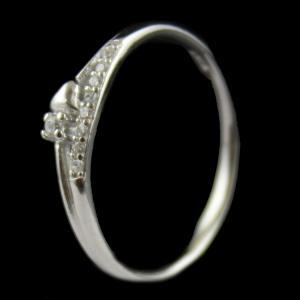 R15945 Sterling Silver Fancy Ring Studded Zircon Stone