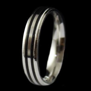 Black Enamel Band Ring