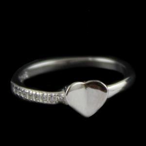R13243 Sterling Silver Fancy Ring Studded Zircon Stones