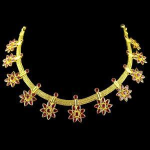 Corundum Stone Necklace
