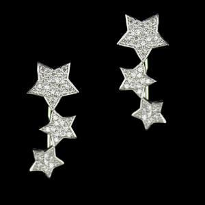 Swarovski Star Hanging Earrings