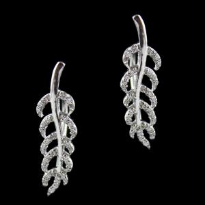 Swarovski Leaf Hanging Earrings