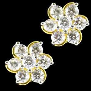 GOLD PLATED ZIRCON STONE TOPS EARRING