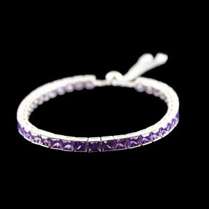 Zircon Amethyst Stone Party Wear Channel Bracelets