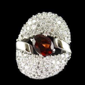 Zircon Stone Heart Shape Fancy Ring