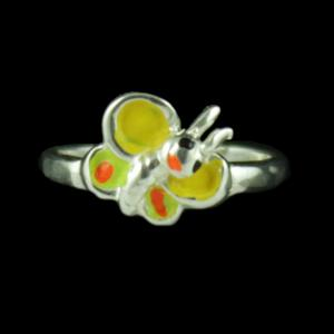 Baby Butterfly Silver Ring