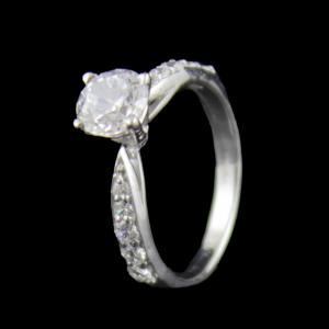 Sterling Silver With CZ Stones Party Wear Rings