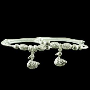 SILVER BABY BANGLE WITH DUCK